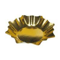 Talíř papírový Hvězda 28 cm zlatý, 25ks