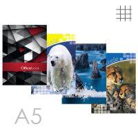 Kniha záznamní A5, čtverečkovaná - 96 listová
