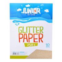 Dekorační papír A4 10 ks zlatý glitter 250 g