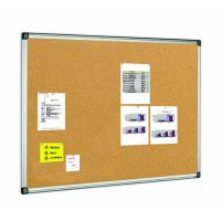 Korková tabule v hliníkovém rámu, 100 x 150 cm