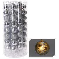 Svítící řetěz 8 LED - stříbrné koule 8x70 mm, 230 cm