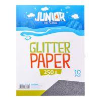 Dekorační papír A4 10 ks černý glitter 250 g