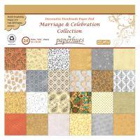 Složka dekor. papíru - 24 listů, 30x30 cm - Marriage & Celebration Collection