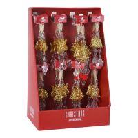 Vánoční ozdoba - PP zlatá - různé tvary 16 cm, 1ks