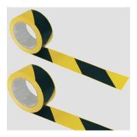 Označovací páska, 7cm šířka, 200 m dlouhá, žlutá-černá