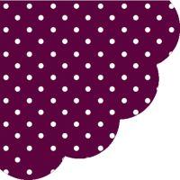 Obrousky PAW R 32 cm Dots Dark Violet