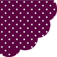 Obrousky PAW R Dots Dark Violet