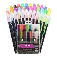 Pero gelové - Neon / Glitter / Pastel, sada 36 ks