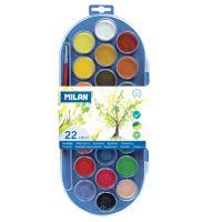 Barvy vodové MILAN - 22 barev, 30mm