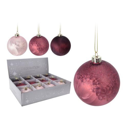 Vánoční koule - skleněná 80 mm, mix / 1ks