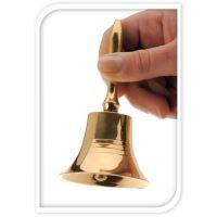 Dekorace - Zvonek zlatý 11 cm, 1ks