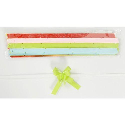 Stuha stahovací 1x20 cm hladká - mix barev, 1ks