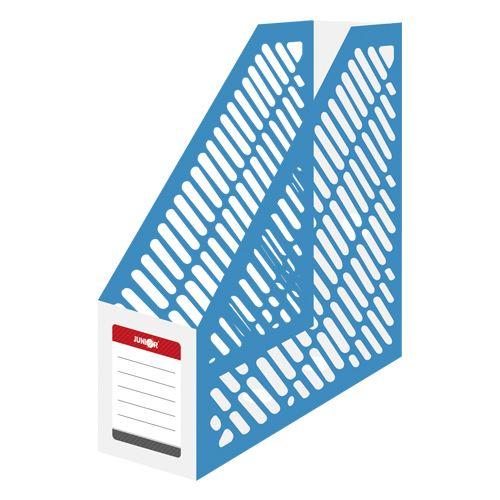 Stojan na časopisy A4 JUNIOR - plastový / bílo-modrý