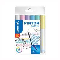 """Dekorační popisovač """"Pintor Pastel"""", sada 6 ks, hrot F"""