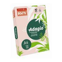 """Kopírovací papier, farebný, A4, 80 g, REY """"Adagio"""", pastelový ružový"""