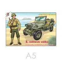 Omalovánka A5 - 2. světová válka