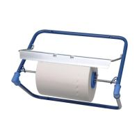Odvinovač kovový nástěnný pro utěrky v roli, modrý