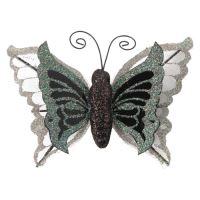 Motýl na klipu 10 cm - mix barev, sada 3ks