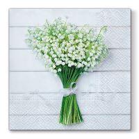 Ubrousky PAW L 33X33cm White Bouquet