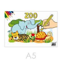Omalovánka JM A5 Zoo