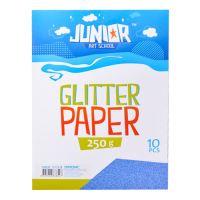 Dekorační papír A4 modrý glitter 250 g, sada 10 ks