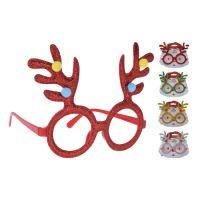 Brýle - Vánoční sob - různé barvy, mix / 1ks