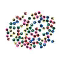 Dekorace pohyblivé oči mix barev 100 ks 5 mm