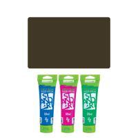 Akrylová barva JUNIOR 120 ml tmavě hnědá 530