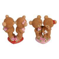 Dekorace Valentýn medvídci 15 cm