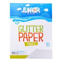 Dekorační papír A4 stříbrný glitter 250 g, sada 10 ks