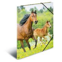 Deska s gumičkou PP A4 Horses