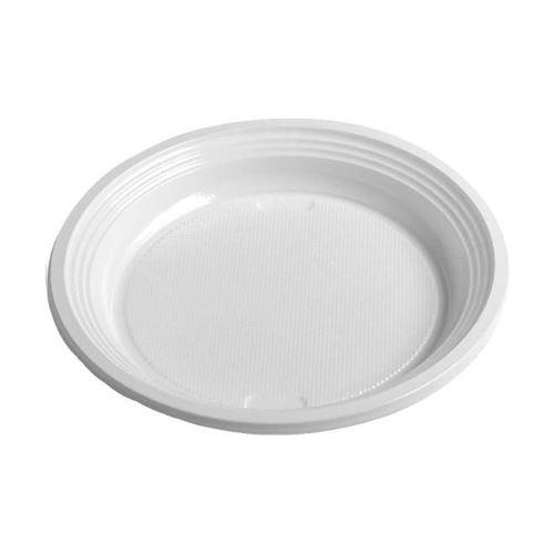 Talíř mělký bílý 17 cm, 100 ks
