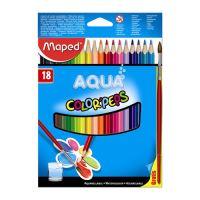 """Pastelky MAPED """"Color Peps"""" akvarelové se štětcem, 18 ks"""