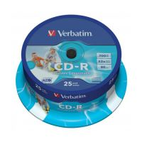 CD-R Verbatim DataLife Plus, 52x, 700 MB/80 MIN, 25-pack