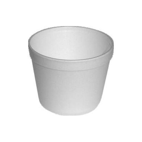 Termo miska kulatá bílá 460 ml, 25 ks