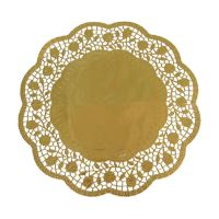 Krajky dekor. kulaté 33 cm zlaté (4 ks v bal.)