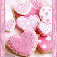 Ubrousky PAW L 33x33cm Heart Cakes