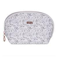 Kosmetická taška White Leaves - kulatá