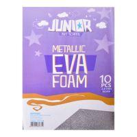 Dekorační pěna A4 EVA 10 ks stříbrná metalická tloušťka 2,0 mm