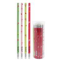 Ceruzka grafitová s gumou/potlačou Plameniak, mix/4 dizajny