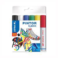 Dekorační popisovač Pintor Fine Classic, sada 6 ks, hrot M