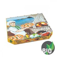 Krabice na pizzu z vlnité lepenky 26x26x3 cm, 100 ks