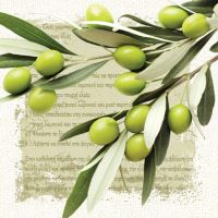 Obrousky PAW L 33x33cm Greek Olives