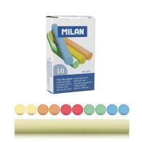Křída MILAN kulatá barevná 10 ks bezprašná