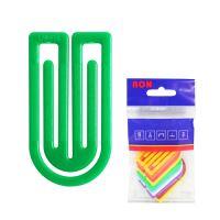 Dopisní spony plastové 633, oblá, 50 mm (10 ks)