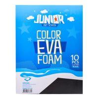 Dekorační pěna A4 EVA černá tloušťka 2,0 mm, sada 10 ks