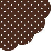 Obrousky PAW R 32 cm Dots Chocolate
