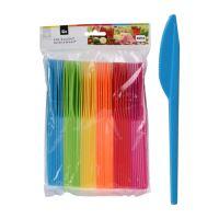 Nůž plastový barevný, sada 48 ks/mix 6 barev