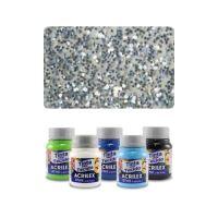 ACR Barva na textil 37ml, Glitter Silver