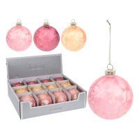 Vánoční koule - skleněná 80 mm / pretty, mix / 1ks